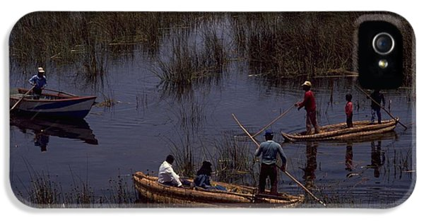 Lake Titicaca Reed Boats IPhone 5 Case