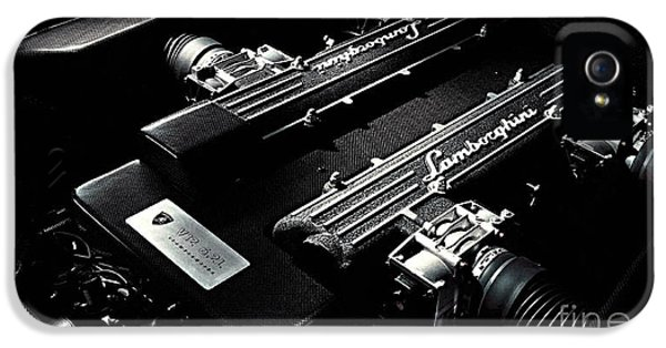 Lamborghini Engine IPhone 5 Case by Marvin Blaine