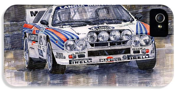 Car iPhone 5 Case - Lancia 037 Martini Rally 1983 by Yuriy Shevchuk