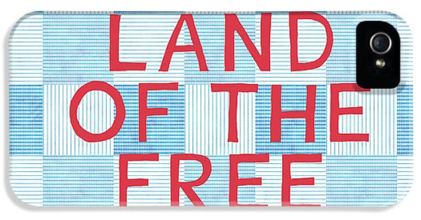 Land Of The Free IPhone 5 Case by Linda Woods