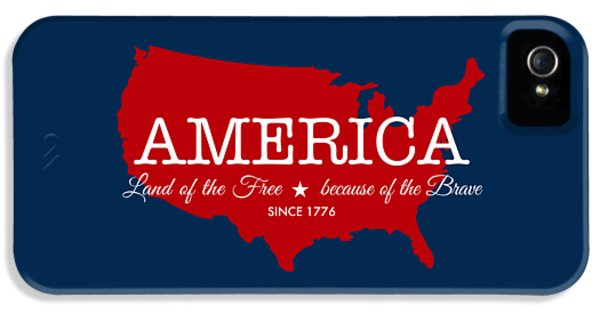 Land Of The Free IPhone 5 Case by Nancy Ingersoll
