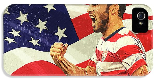 Landon Donovan IPhone 5 Case by Taylan Apukovska
