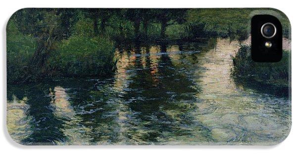 Landscape With A River IPhone 5 Case by Fritz Thaulow