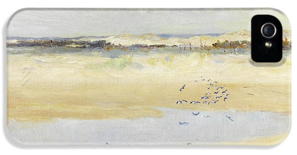 Lapwings By The Sea IPhone 5 Case by William James Laidlay