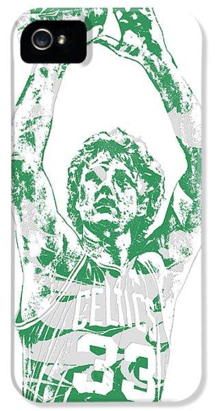 Larry Bird Boston Celtics Pixel Art 5 IPhone 5 Case