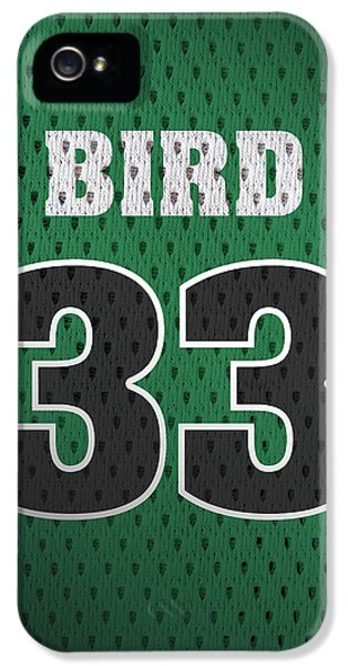 Larry Bird Boston Celtics Retro Vintage Jersey Closeup Graphic Design IPhone 5 Case by Design Turnpike