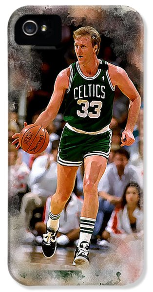 Larry Bird iPhone 5 Case - Larry Bird by Karl Knox Images