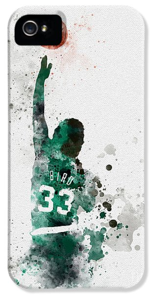 Basketball iPhone 5 Case - Larry Bird by Rebecca Jenkins