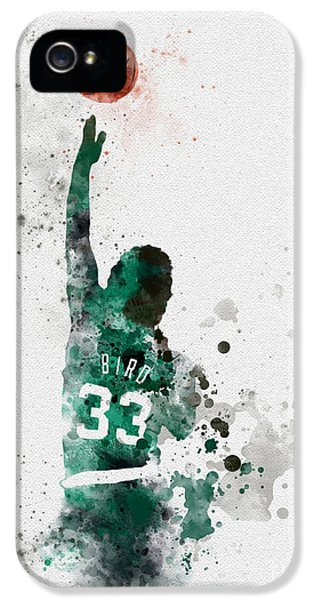 Larry Bird IPhone 5 Case by Rebecca Jenkins