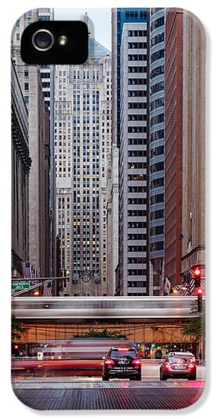 Lasalle Street Canyon With Chicago Board Of Trade Building At The South Side II - Chicago Illinois IPhone 5 Case
