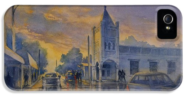 Last Light, High Street At Seventh IPhone 5 Case by Virgil Carter