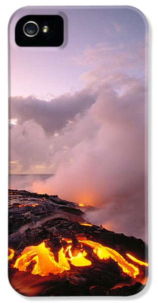 Lava Flows At Sunrise IPhone 5 Case by Peter French - Printscapes