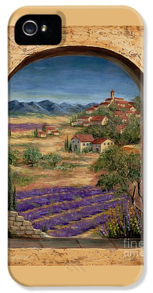 Lavender Fields And Village Of Provence IPhone 5 Case