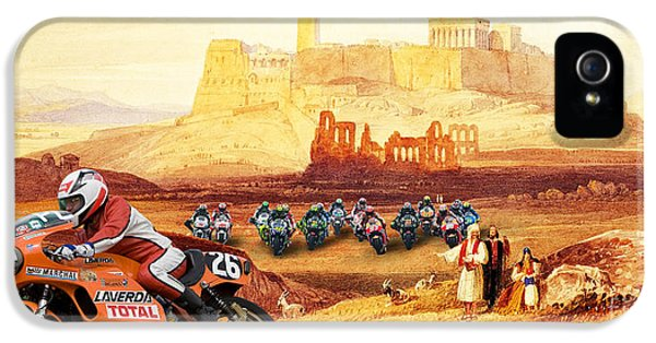 Laverda 26 Pole Position On A Athens Classic Painting IPhone 5 Case by Pablo Franchi