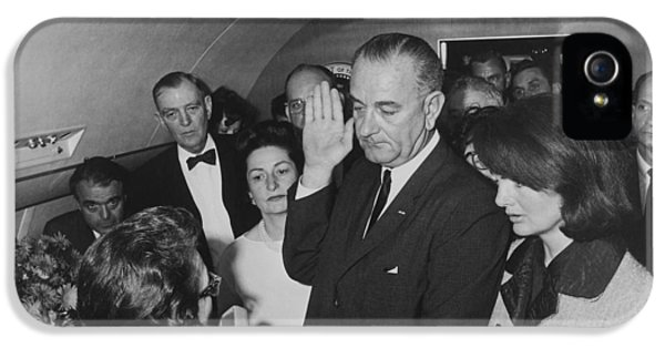 Lbj Taking The Oath On Air Force One IPhone 5 Case by War Is Hell Store