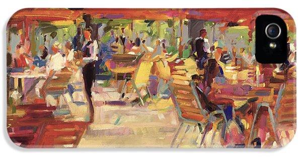 Le Cafe Du Jardin  IPhone 5 Case by Peter Graham