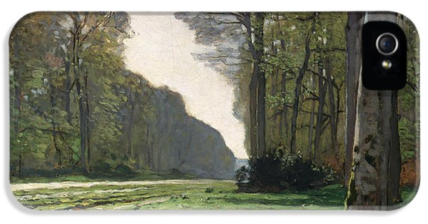 Rural Scenes iPhone 5 Case - Le Pave De Chailly by Claude Monet