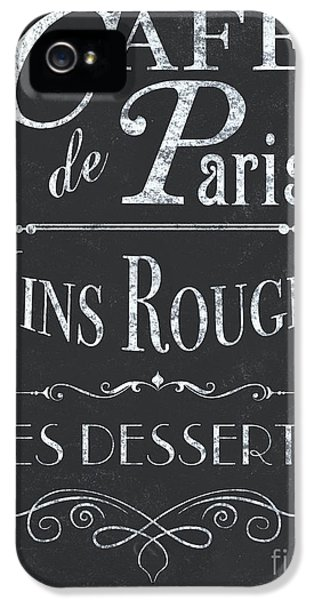 Le Petite Bistro 2 IPhone 5 Case by Debbie DeWitt