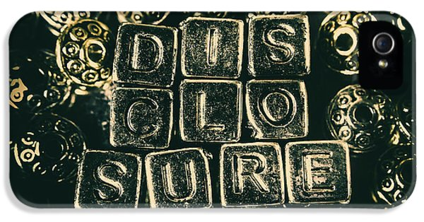 Aliens iPhone 5 Case - Learning Blocks Of Disclosure by Jorgo Photography - Wall Art Gallery