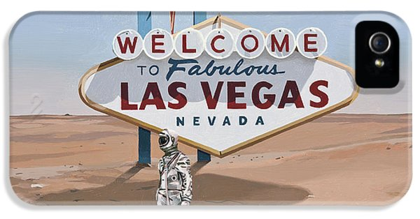 Science Fiction iPhone 5 Case - Leaving Las Vegas by Scott Listfield