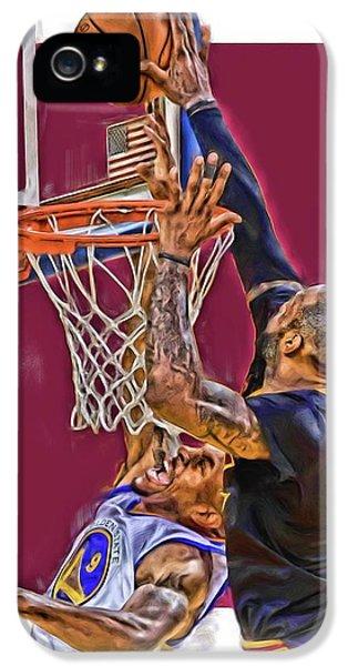 Lebron James Cleveland Cavaliers Oil Art IPhone 5 Case