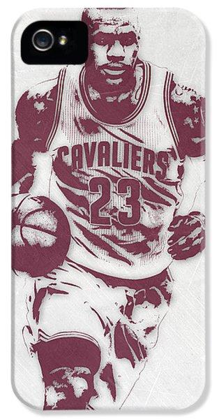 Lebron James Cleveland Cavaliers Pixel Art 4 IPhone 5 Case