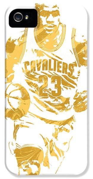 Lebron James Cleveland Cavaliers Pixel Art 7 IPhone 5 Case by Joe Hamilton