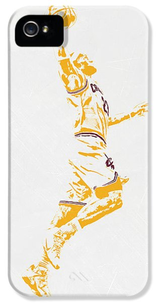 Lebron James Cleveland Cavaliers Pixel Art IPhone 5 / 5s Case by Joe Hamilton