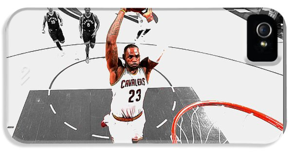 Lebron James Flight Path IPhone 5 Case by Brian Reaves