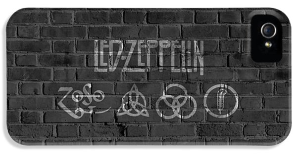 Led Zeppelin Brick Wall IPhone 5 Case by Dan Sproul