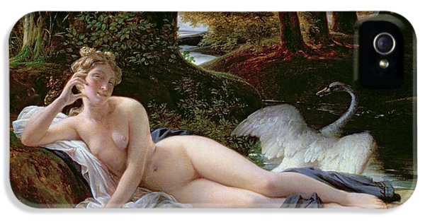 Leda And The Swan IPhone 5 Case by Francois Edouard Picot