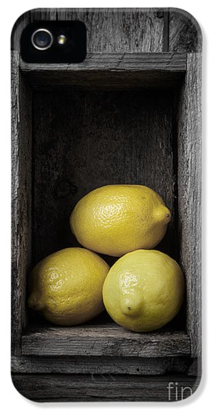 Lemons Still Life IPhone 5 Case by Edward Fielding
