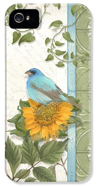 Bunting iPhone 5 Case - Les Magnifiques Fleurs Iv - Secret Garden by Audrey Jeanne Roberts