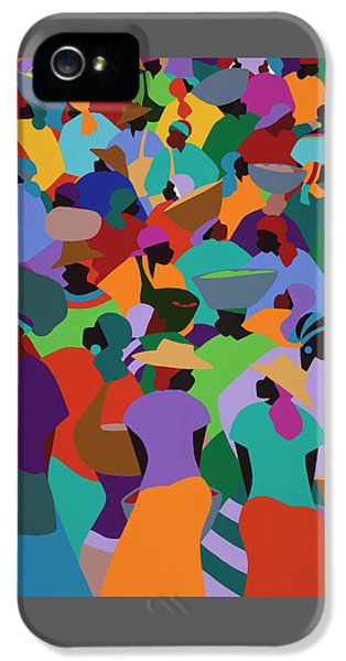 iPhone 5 Case - Les Palmes Market Haiti by Synthia SAINT JAMES