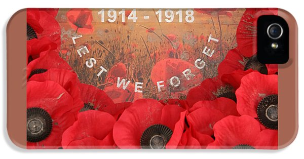 Lest We Forget - 1914-1918 IPhone 5 Case by Travel Pics
