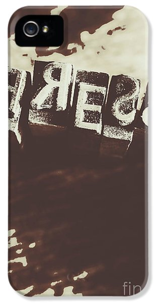 Letter Press Typeset  IPhone 5 Case by Jorgo Photography - Wall Art Gallery
