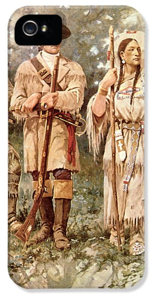Lewis And Clark With Sacagawea IPhone 5 Case by Edgar Samuel Paxson