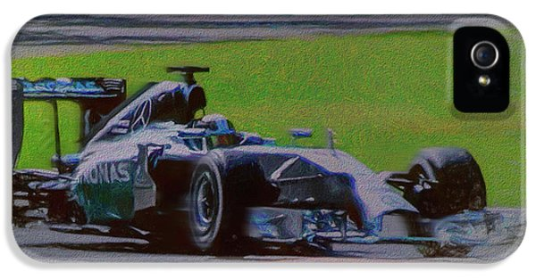 Lewis Hamilton IPhone 5 Case by Marvin Spates