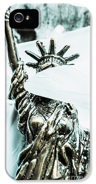Liberty Blinded By Corruption IPhone 5 Case by Jorgo Photography - Wall Art Gallery