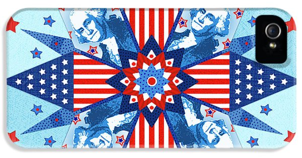 Liberty Quilt IPhone 5 Case by Valerie Drake Lesiak