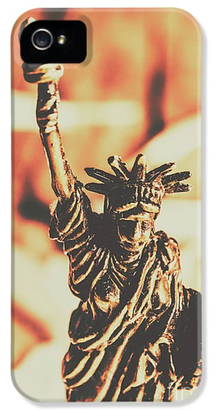 Liberty Will Enlighten The World IPhone 5 Case by Jorgo Photography - Wall Art Gallery