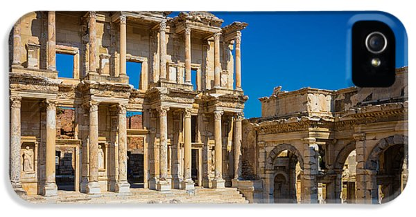 Library Of Celcus IPhone 5 Case by Inge Johnsson