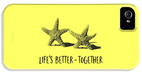 Life Is Better Together Sketch Tee IPhone 5 Case