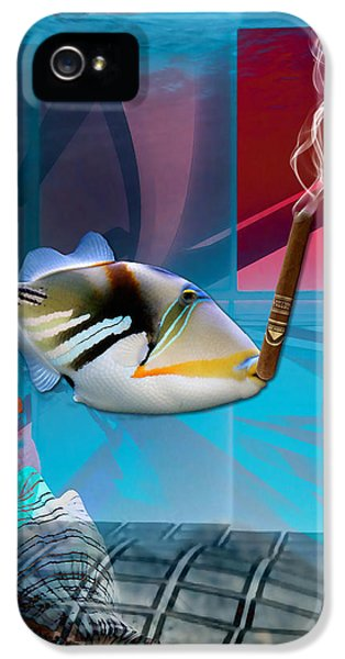 Life Is Good Saltwater Triggerfish IPhone 5 Case by Marvin Blaine