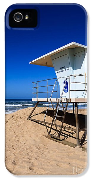 Lifeguard Tower Photo IPhone 5 Case by Paul Velgos