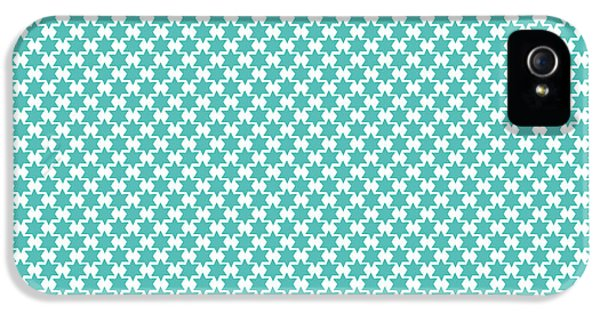 Light Blue Star Of David- Art By Linda Woods IPhone 5 Case by Linda Woods
