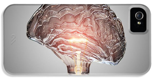 Light Bulb Brain IPhone 5 Case by Johan Swanepoel