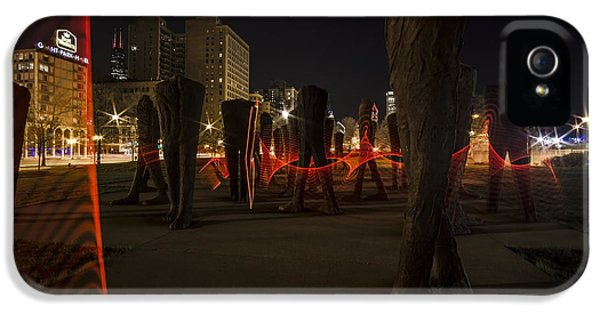 Light Painting Around Chicago's Agora IPhone 5 Case