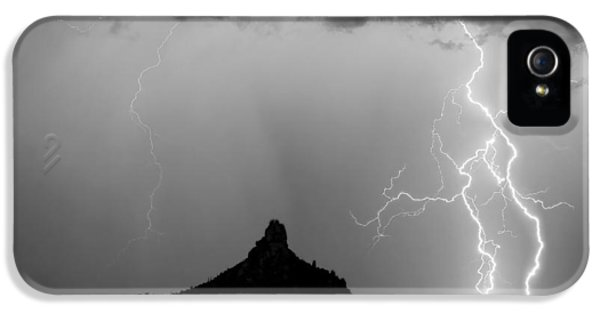 Lightning Thunderstorm At Pinnacle Peak Bw IPhone 5 Case by James BO  Insogna