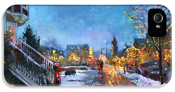Lights On Elmwood Ave IPhone 5 Case by Ylli Haruni